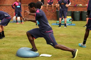 cheick tiote in training