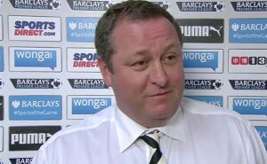 Mike Ashley Sky Sports West Ham Match May 2015