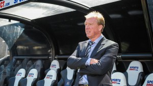 steve mcclaren dugout hands crossed newcastle