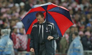 Steve McClaren wally with the brolly -006