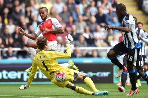 Tim Krul saves from theo walcott