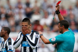aleksandar mitrovic recieved red card