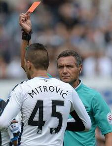 aleksandar mitrovic red card