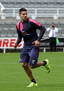 aleksandar mitrovic training st james' park