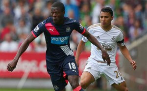 Chancel Mbemba Newcastle United Jefferson Montero Swansea City