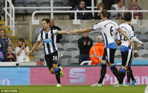 florian thauvin after socring first goal against Northampton