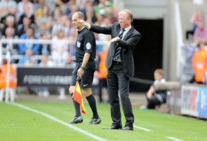 steve mcclaren dancing on the touchline northampton