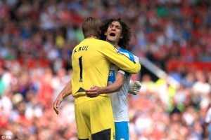tim krul and fab coloccini at end of game