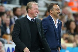 Steve McClaren and Owls Carlos Carvalhal