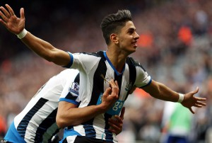 ayoze perez after socring first goal