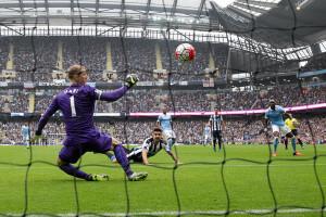 Aleksandar Mitrovic first goal Manchester+City+v+Newcastle+X6wsmPuMQX2l