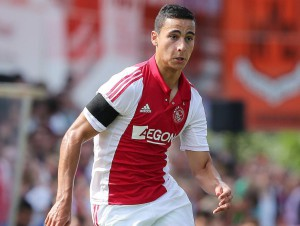 Anwar El Ghazi of Ajax Ajax Amsterdam v Real Sociedad Friendly 2014/2015 xVIxTobiasxKleuverxIVx PUBLICATIONxINxGERxSUIxAUTxHUNxPOLxJPNxONLY 2464656 Anwar El Ghazi of Ajax Ajax Amsterdam v Real Sociedad Friendly 2014 2015 PUBLICATIONxINxGERxSUIxAUTxHUNxPOLxJPNxONLY