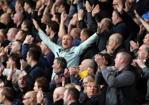 newcastle fans celebrate win at Bournemouth