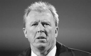 Steve McClaren Close Up B+W 2015