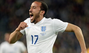 Andros Townsend after scoring for England v Italy