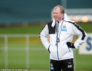 steve mcclaren on training ground