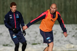 jonjo shelvey and jack colback training