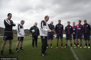 steve mcclaren and players la manga