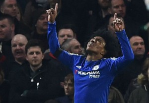 willian after scoring thrid cheslea goal