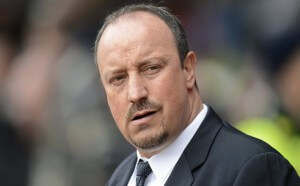 Chelsea's interim manager Benitez looks on before their English Premier League soccer match against Southampton at St. Mary's Stadium in Southampton