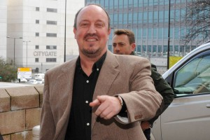 rafa benitez arrives at st james pk