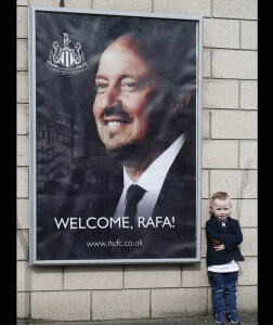 rafa benitez at st james' park