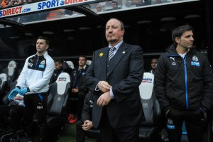 rafa benitez in dug out newcastle