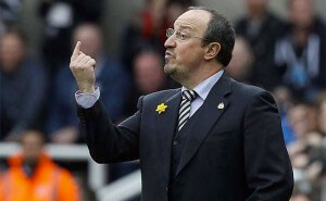 Rafa Benitez Sticking Up One Finger