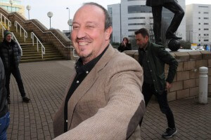 rafa benitez smiling st james