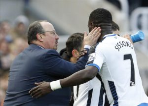 rafa benitez sissoko after mouussa scored swansea