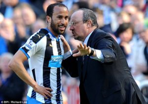 andros townsend and Rafa Benitez