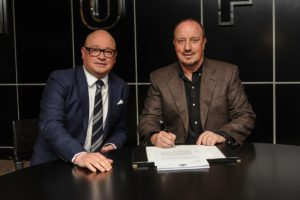 Lee Charnley Rafa Benitez -signs-a-new-contract-to-stay-on-as-Newcastle-United-manager