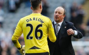 darlow and benitez after palace win