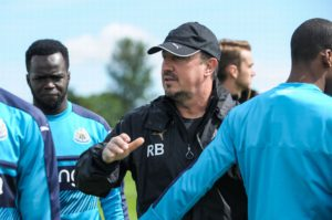 benitez tiote training