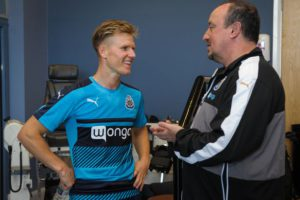 matt ritchie with Rafa benitez