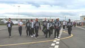 newcastle squad arrive in ireland