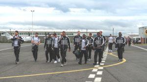 newcastle squad arrive in ireland