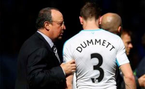 Paul Dummett No3 Rafa Benitez Newcastle United