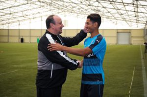 rafa benitez ayoze perez first day