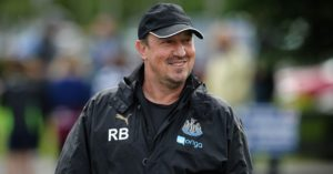 rafa benitez closeup in cap