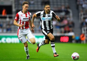 aleksandar mitrovic in action cheltenham