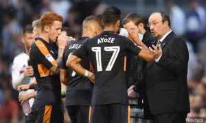 fulhamrafa benites talks to players fulham