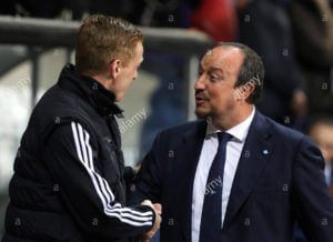 swansea-manager-garry-monk-l-greets-napoli-coach-rafael-benitez-before-ftr2yb