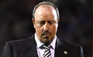 Rafa Benitez Looking Down Close Up