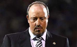 Rafa Benitez Looking Down Close Up